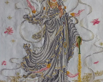 New Finished Completed Cross Stitch - Goddess of Mercy - P22