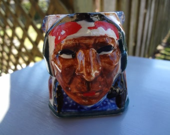 """Vintage  """"Toby"""" Character Jug featuring a American Indian"""