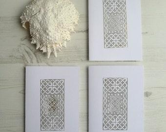 Celtic Knot Handmade Card PACK OF 3