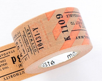 """Mark's """"Travel"""" Series Japanese Masking Tape /  Antique Tickets 20mm for scrapbooking, packaging"""
