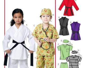 Child Scrubs Pattern, Kids Karate Costume Pattern, McCall's Sewing Pattern 6184