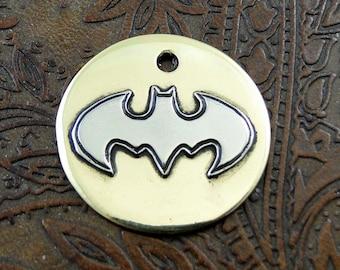 Custom Dog ID Tag Small Batman- Personalized Metal Dog Tag-Pet Collar ID Tag-Dog Tag for Dogs-Pet Tag