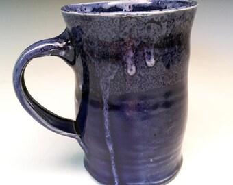 Cobalt Blue Coffee Mug in Hand Thrown Stoneware
