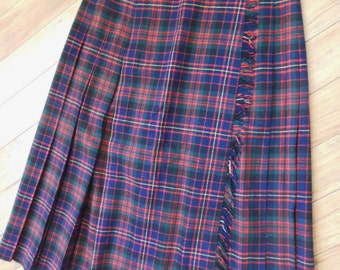 Vintage Scotch Plain Wool Skirt 13/14 George Gary