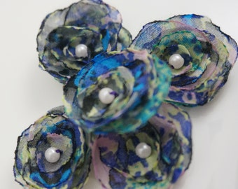 Watercolor Flower Embellishments