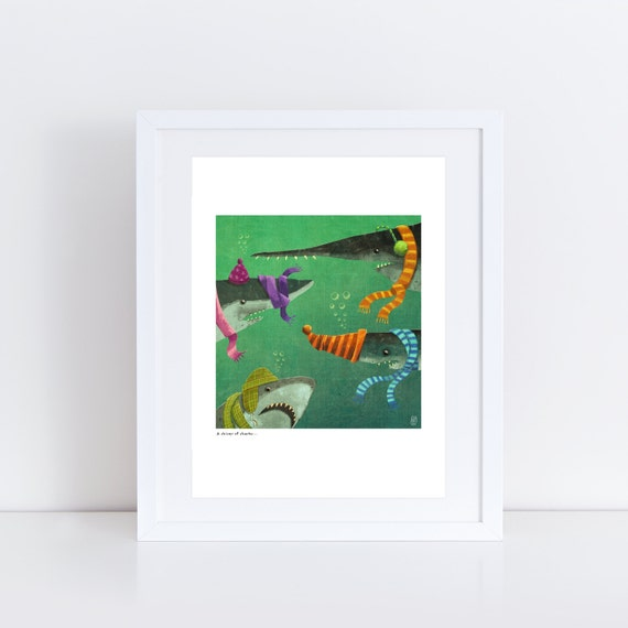 An Ambush of Tigers! (A Shiver of Sharks) - Signed Print from An Ambush of Tigers book