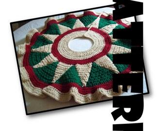 Crochet Pattern: Christmas Tree Skirt