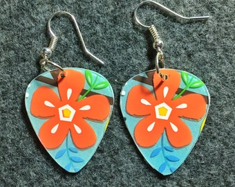 Up cycled Gift Card Guitar Pick Earrings