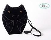 Sale before 40 usd black faux leather bat bag cross body bag