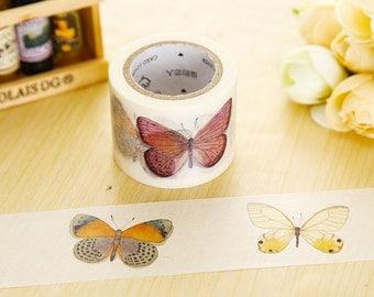 Butterflies cute cartoon washi masking tape