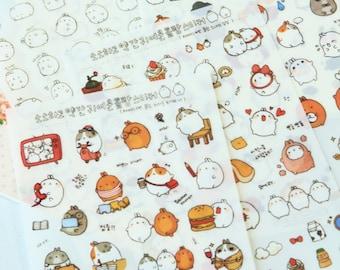 Molang Potato Rabbit cartoon stickers set