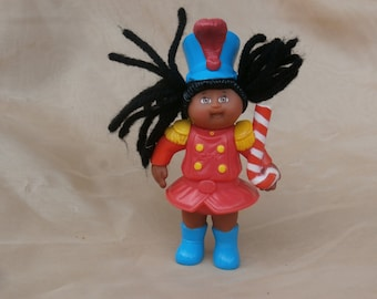 1994 Happy Meal Cabbage Patch Kids Christmas Girl Drum Major Girl, Black Yarn Hair