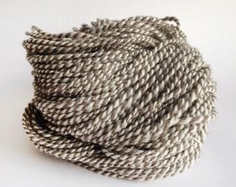 Jacobs Humbug Handspun Yarn - White and grey - 200g - Aran to Bulky Yarn