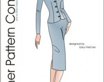"PDF Classic Suit Pattern for 12"" Fashion Dolls"