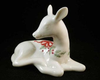 Lenox Jewels Holiday Deer Figurine