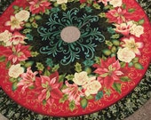 "Extra Large 64"" Winter Garden Tree Skirt with Ruffle"