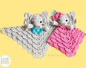 CROCHET PATTERN - Josefina and Jeffery Elephant Lovey Crochet PDF Pattern with Instant Download