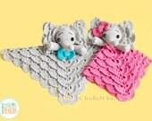 NEW PATTERN - Josefina and Jeffery Elephant Lovey Crochet PDF Pattern with Instant Download