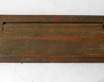 antique cast brass mail slot architectural salvage