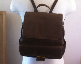Backpack Leather Cocoa Brown -  nicely distressed