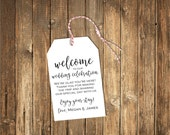 Welcome to our Wedding Favor Tags-Shower Favor Tags/Welcome Tags/Custom Favor Tags/ Welcome Favor Tags