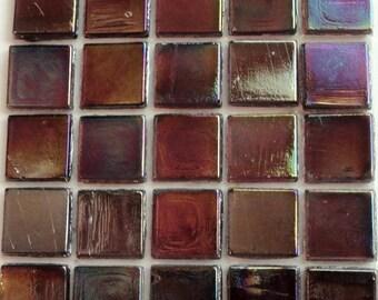 1/2 in. Purple Plum Iridescent Transparent Mosaic Glass Tiles//Mosaic Supplies//Mosaics