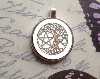 Tree Pentacle Bezel Amulet by Mickie Mueller