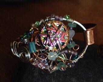 Dreamy Dragonfly Copper Bracelet