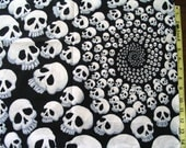 Skull fabric DESTASH 1 yard skullduggery