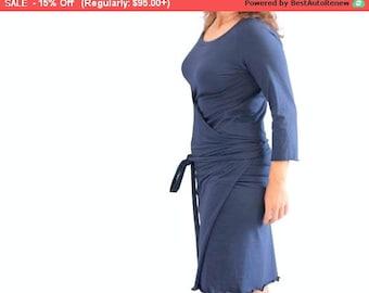 SALE Wrap dress, Custom womens dress, Womens dress, Custom dress, plus size clothing, Knee length dress, Day dress, Casual dress, Formal ...