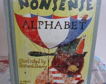 Vintage 1962 Book Edward Lear's A Nonsense Alphabet Illustrated by Richard Scarry