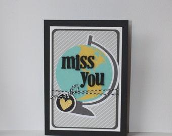 Miss You Handmade Card