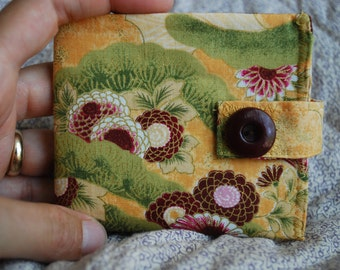 Billfold wallet - Japanese garden - coin pocket FREE SHIPPING