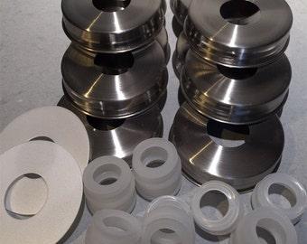 Stainless Steel Mason Jar Dispenser Kit (13 bakers dozen!)