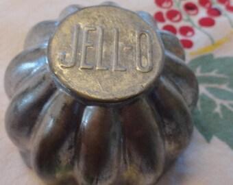 Vintage JELLO Molds  Retro Kitchen Miniature Fluted Marked Aluminum