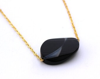Minimal Black Necklace
