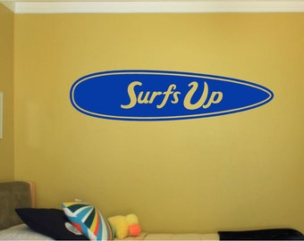 Surfer Wall Decal Personalized Name Vinyl Wall Art