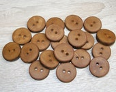 "20 Handmade apple wood Tree Branch Buttons with Bark, accessories (0,87'' diameter x 0,20"" thick)"