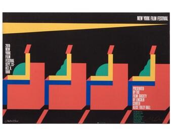 Signed Milton Glaser New York Film Festival Poster