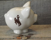 Wyoming Cowboys Piggy Bank, Ready to Ship Today, officially licensed