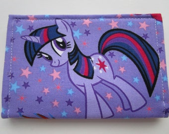 My Little Pony Credit Card Wallet, Rainbow Dash, Pinkie Pie, Twilight Sparkle, Business Card Holder, Small Wallet, Cosplay Accessories