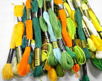 Fall Fling Estate Lot Variety Colors Vintage Embroidery Floss Thread Sewing Notions Skeins (55) Each