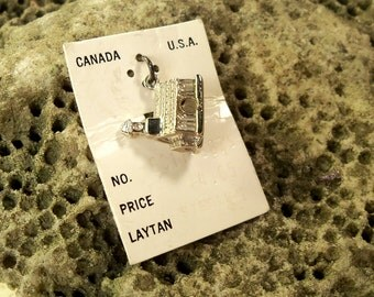 Vintage Religious Church solid Sterling Silver Charm For Bracelet deadstock