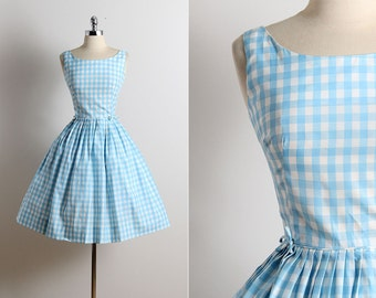 Vintage 50s Dress | 1950s David Crystal dress | summer dress xs | 5716