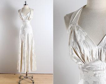 Vintage 1930s Dress |  30s Original Design dress | wedding dress xs | 3461