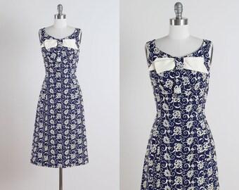 vintage 1950s dress . vintage party dress . 5104