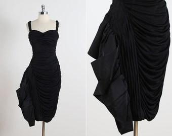 Lilli Diamond . vintage 1950s dress . vintage cocktail dress . 5417