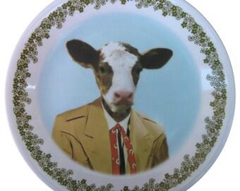 """Colton the Cowboy Portrait - Altered Vintage plate 8.6"""""""
