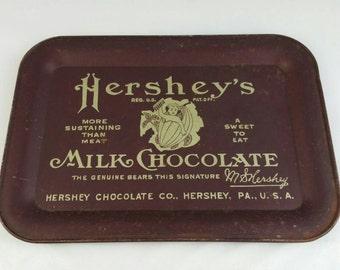 Vintage Hershey's Milk Chocolate Metal Tray Small