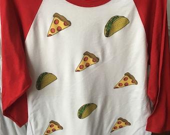 Pizza & Taco Raglan by Jaime Knight